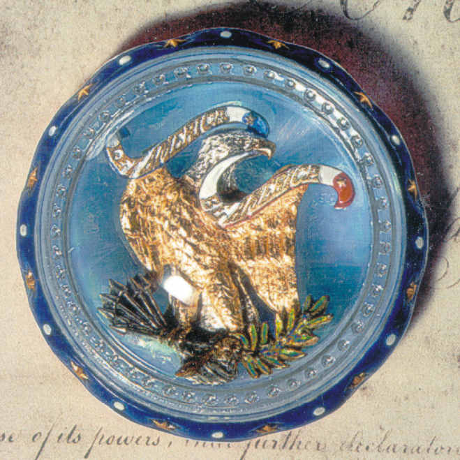 """Let America Be America"" LE Bill of Rights Eagle Paperweight"