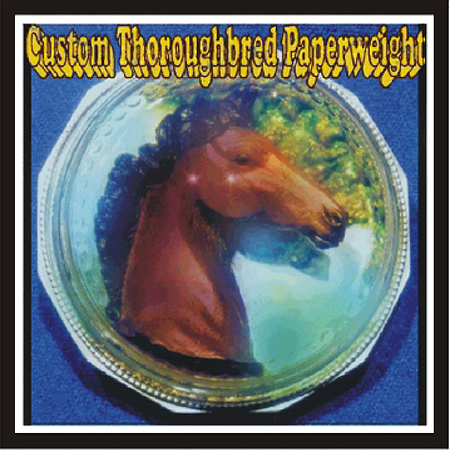 CUSTOM PAINTED THOROUGHBRED OR QUARTER-HORSE PAPERWEIGHTS - Click Image to Close