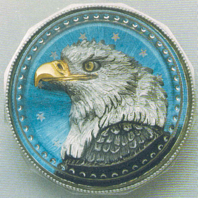 """Eye for Peace"" Eagle Paperweight"