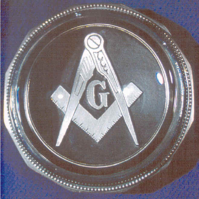 Pewter Masonic Symbol Paperweight