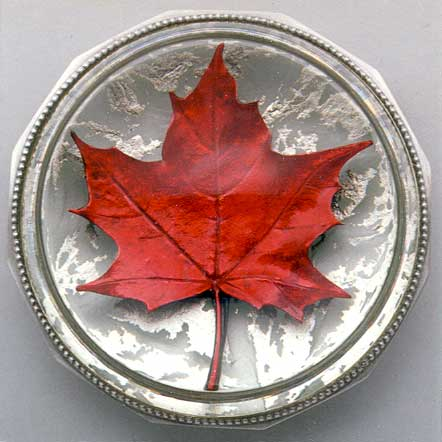 Red Maple Leaf Paperweight