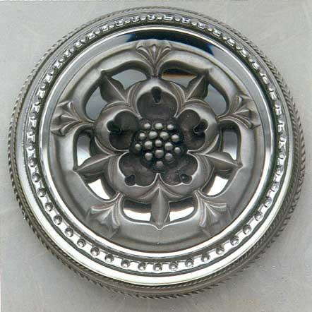 THE PEWTER TUDOR ROSE PAPERWEIGHT