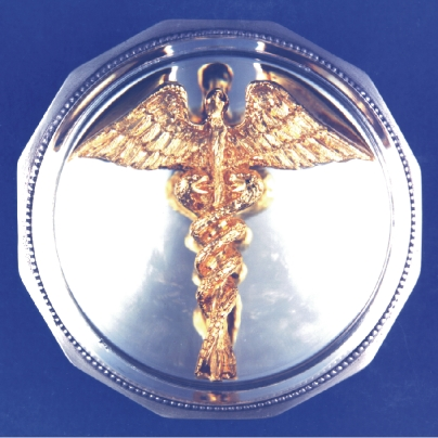 THE GOLD CADUCEUS PAPERWEIGHT