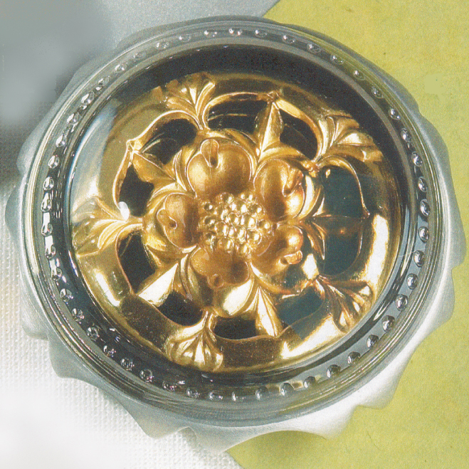 Gold Leaf Tudor Rose Paperweight