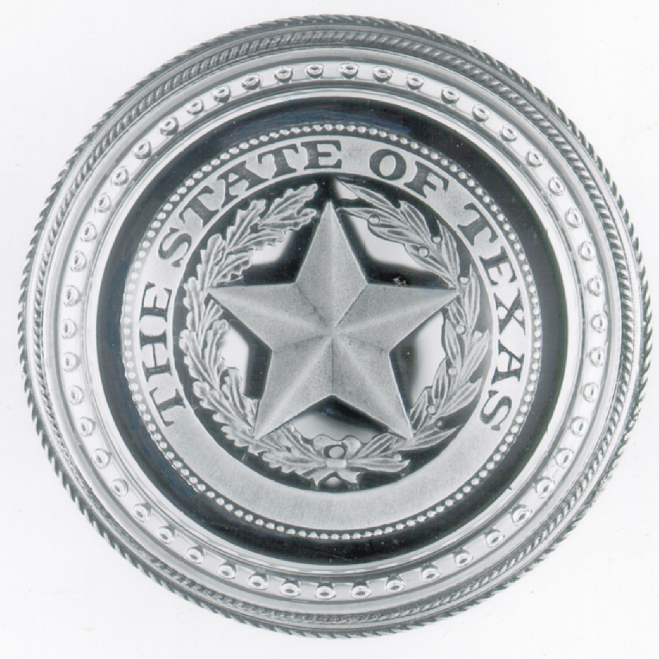 THE STATE OF TEXAS PAPERWEIGHT